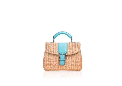 MINI VIPHA WICKER BAG (Turquoise)