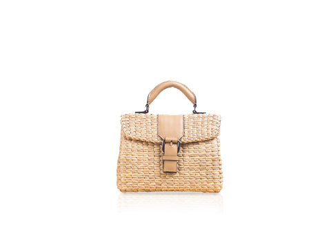 MINI VIPHA WICKER BAG (Nude)