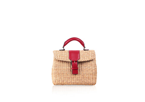 MINI VIPHA WICKER BAG (Red)