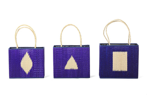 CPOT - Sedge Bag with Braid Ears Pattern (Set Blue)