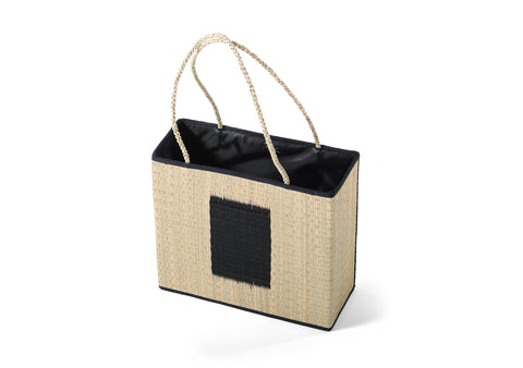 CPOT - Natural Sedge Bag with Braid Ears Pattern A