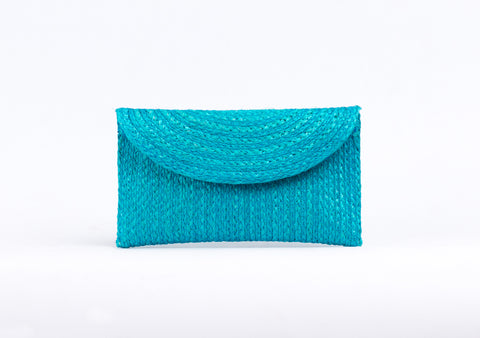 Bangkok Craft - Sisal Mini Clutch Bag (Sky)