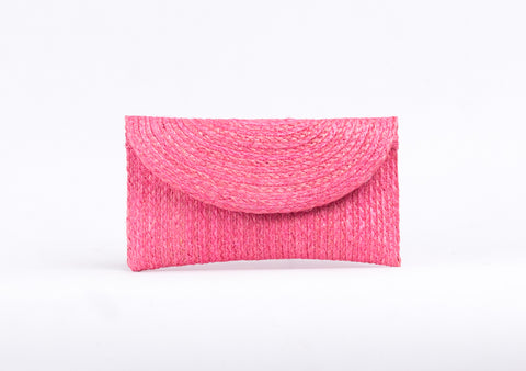 Bangkok Craft - Sisal Mini Clutch Bag (Pink)