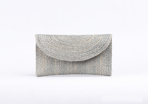 Bangkok Craft - Sisal Mini Clutch Bag (Grey)