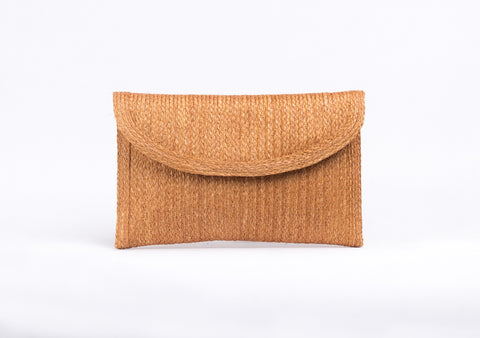 Bangkok Craft - Sisal Clutch Bag (Brown)