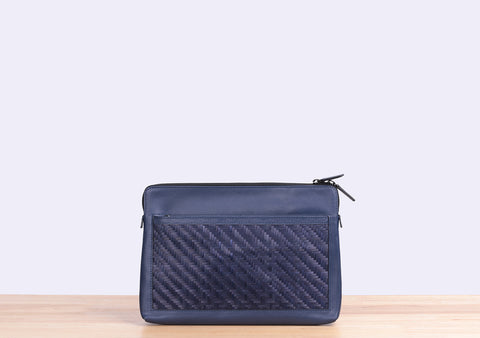 Bamboo Clutch (Navy)