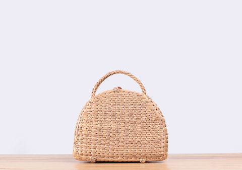 Mini Masha Straw Suitcase Bag