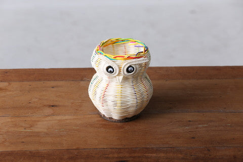 Owl Pencil Holder (Natural)
