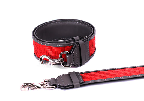 Bamboo Strap (Grey-Red)