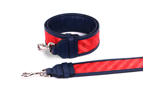 Bamboo Strap (Navy-Red)