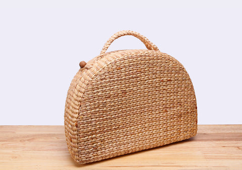 MASHA Straw Suitcase Bag