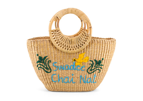 Straw Handbag Pattern Swadee Chainat