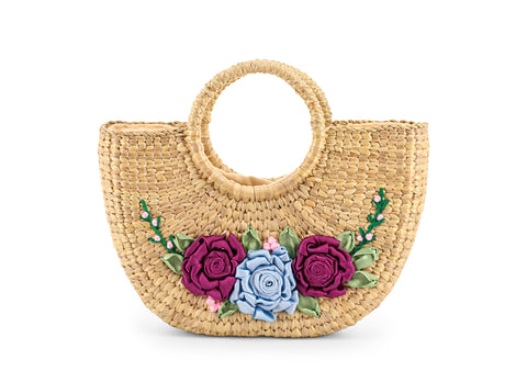 Straw Handbag Pattern Ribbon