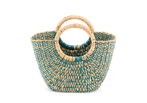 Green straw Handbag
