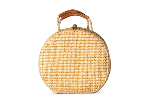 Straw Suitcase Bag