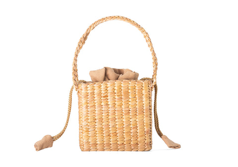 Straw box handbag