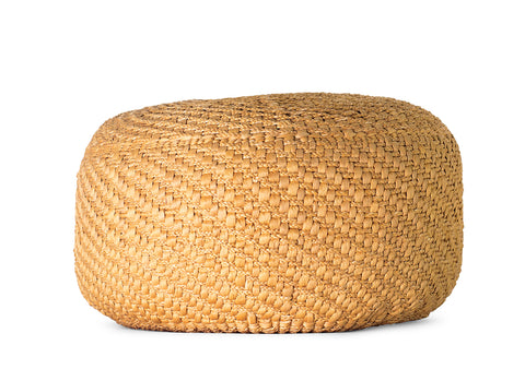 Wicker Jute Pouffe