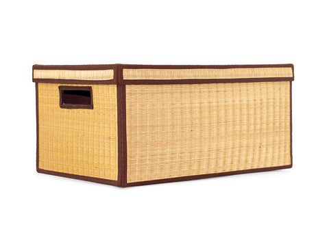 Natural Storage Box with hand slot