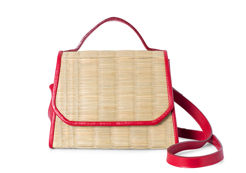Natural shoulder handbag
