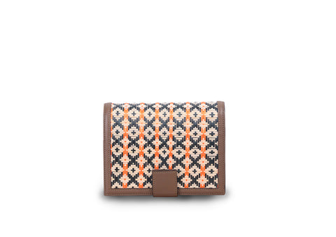 Bamboo Mini Bag (Khaki-Orange)
