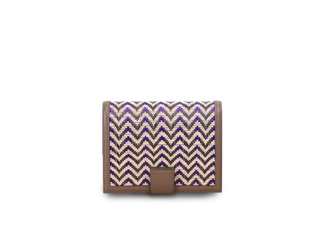 Bamboo Mini Bag (Khaki-Purple)