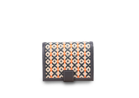 Bamboo Mini Bag (Dark Gray-Orange)