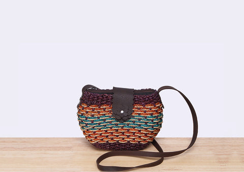 Mini Straw Saddle Bag