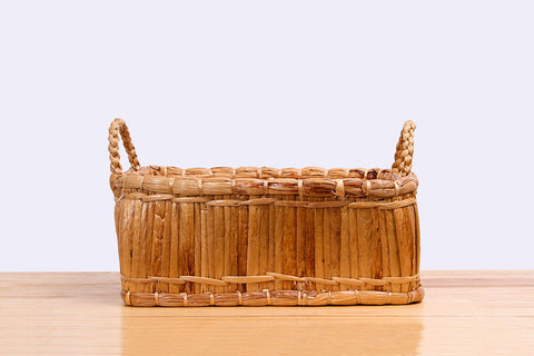 Sil Thin Chao Pha Ya - Natural straw wicker square basket