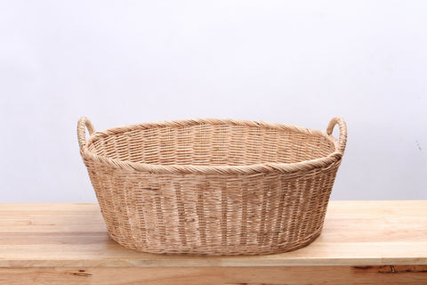 Natural Wicker Basket (Short) (L)