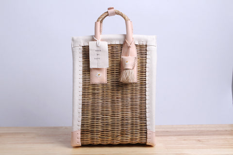 Paniers NEM - Rattan canvas wicker handbag