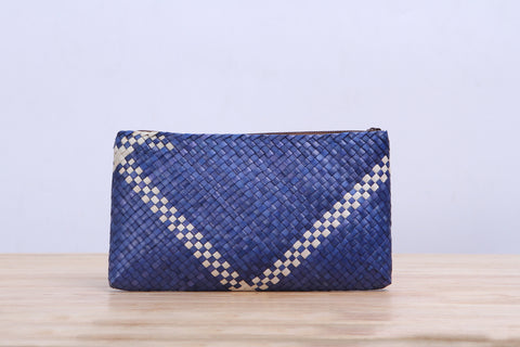 Pandan small wicker bag (Blue)