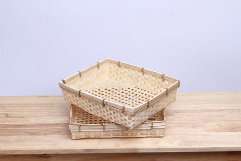 Rectangle Bamboo Basket