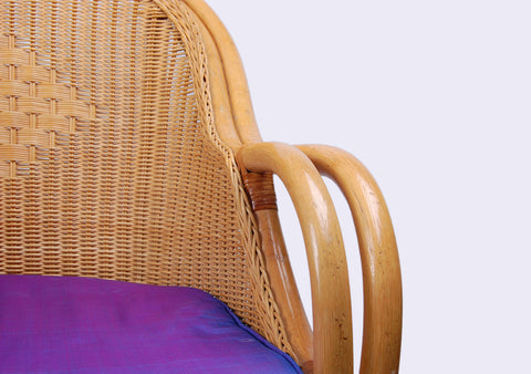 BangSai - Purple Rattan Chair