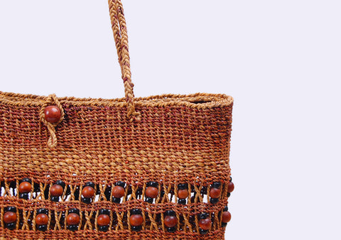 BangSai - Straw Bead Tote Bag