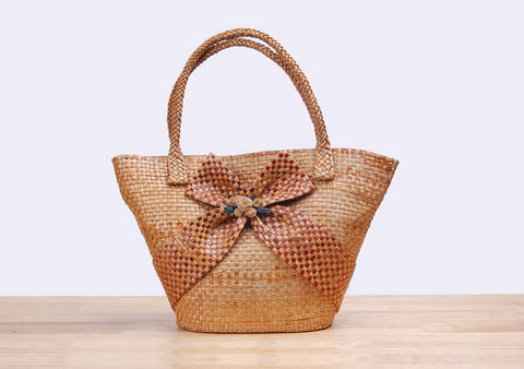 BangSai - Straw Ribbon Hand Bag
