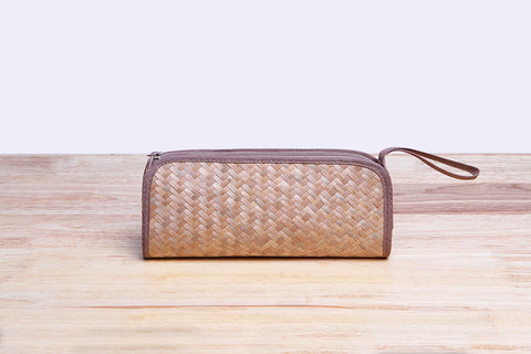 Nattira - Reed woven Pencil Bag