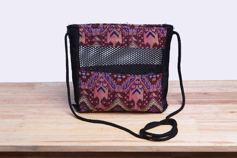 Woven Cloth Crossbody Bag