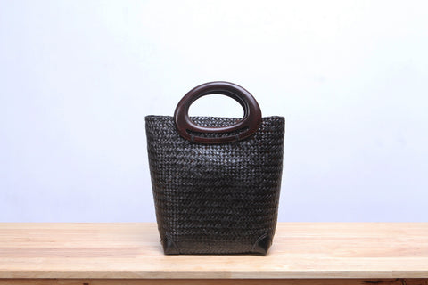 Black Seagrass Tote Bag
