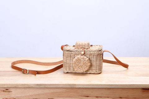 Rattan Wicker Camera Bag