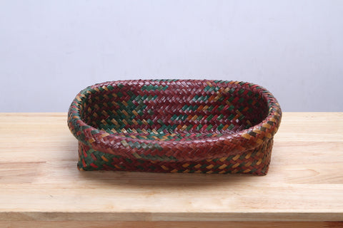 Seagrass Handwoven basket (Red)