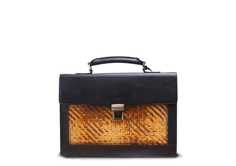 Briefcase (Black yellow strips)