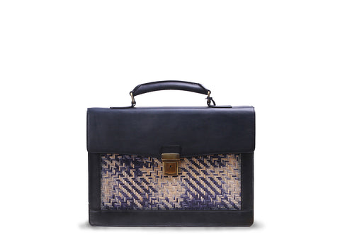 Briefcase (Black blue strips)