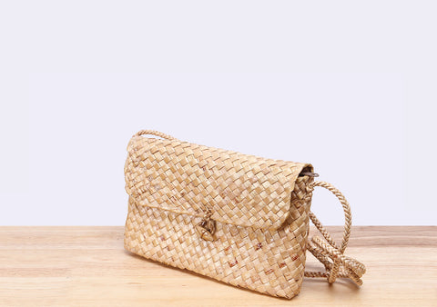 Straw Saddle bag