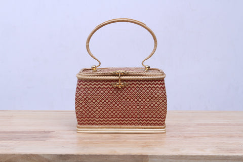 A handmade fineness wicker handbag