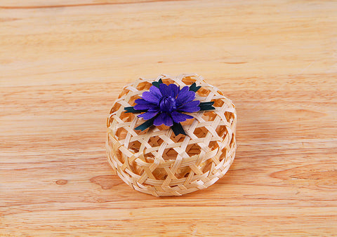Purple Flower Round Box