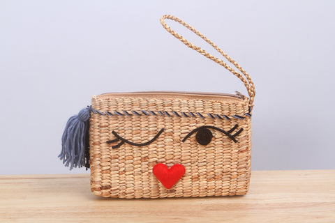 MoCraft - Straw clutch bag