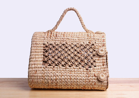 Petpiness - Straw wicker pet carrier bag