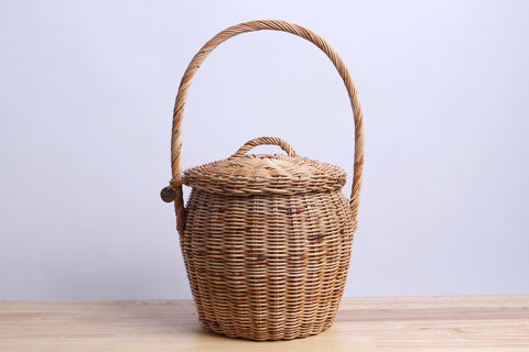 Paniers NEM - Rattan wicker basket with lid (M)