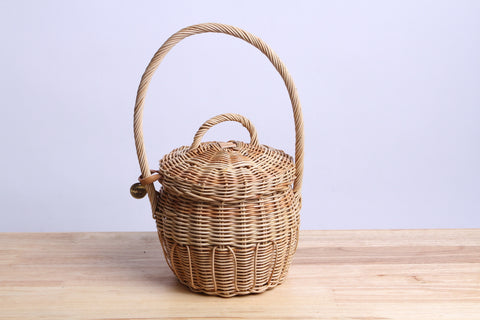 Paniers NEM - Rattan wicker basket with lid ( S )