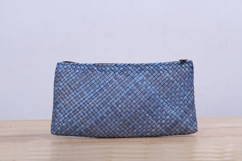 Pandan small wicker bag (Light Blue)